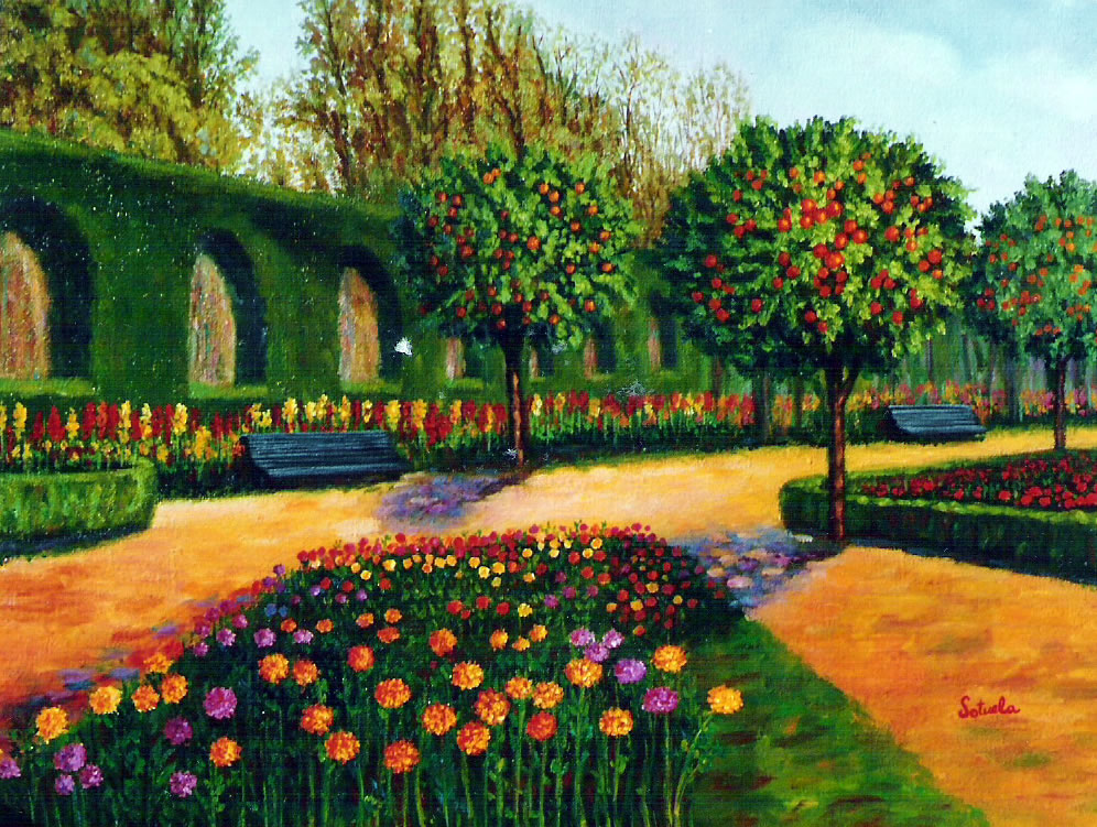 Dibujo jardin pictures to pin on pinterest pinsdaddy for Dibujos de jardines